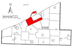 Location of Millcreek Township in Erie County
