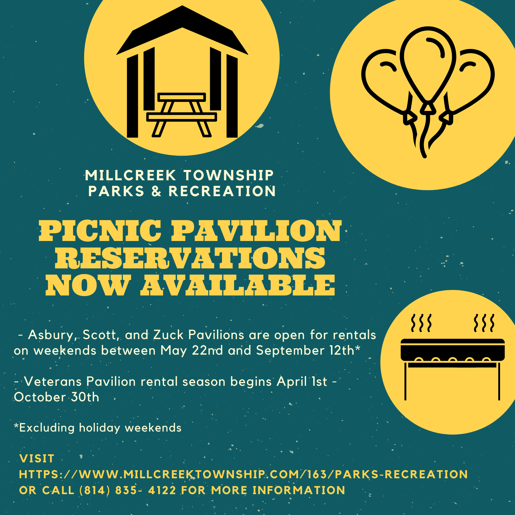 Pavilion Reservations Available