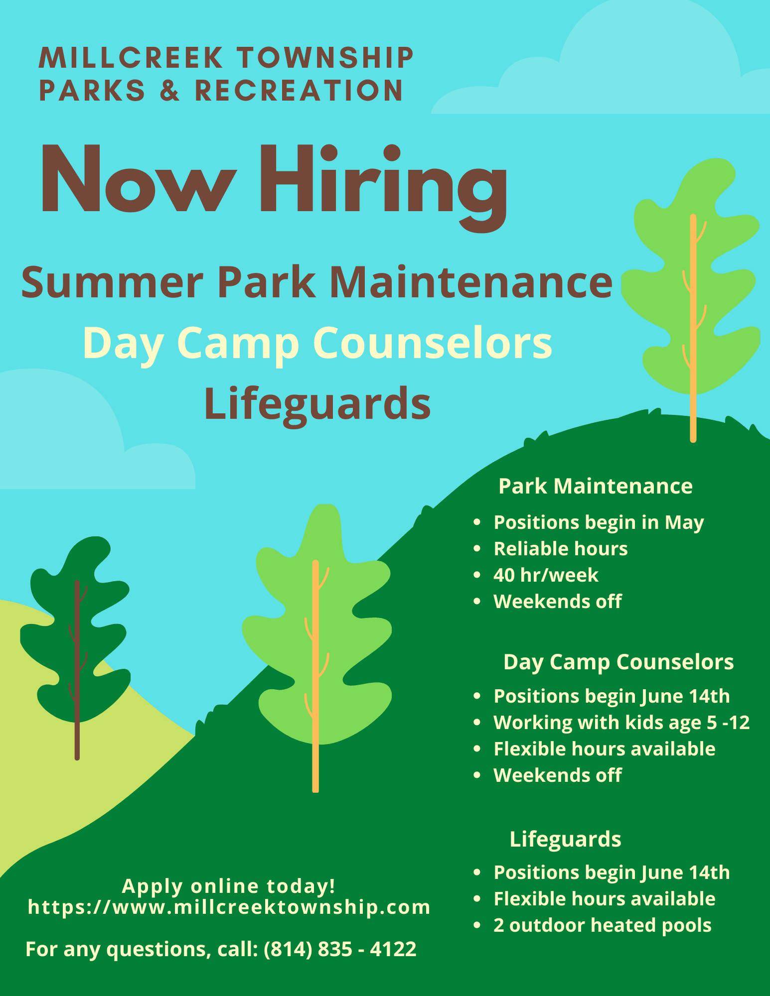 Description Now Hiring (Summer)